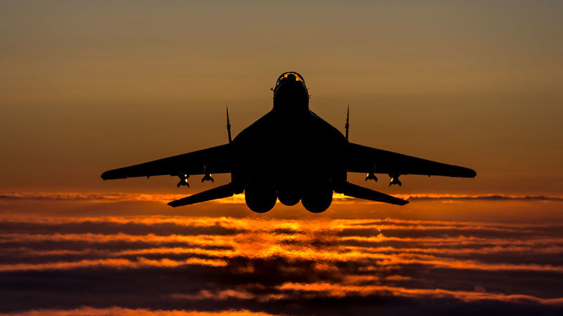 Air Air Force Aircraft Airspace Alert Baltic Fighter Fulcrum Lithuania MiG29 Military Missiles Mission NATO Poland Policing Protection Quick Reaction Safety Sunset