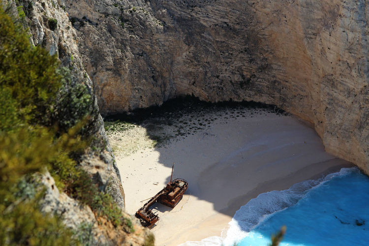 Navagio, Zakynthos, Greece GREECE ♥♥ Nature Navagio Beach NavagioShipwreck Beauty In Nature Blessed  Boat Day High Angle View Nature No People One Animal Outdoors Rock Rock - Object Rock Formation Scenics - Nature Sea Sea And Sky Seascape Shipwreck Solid Summer Tranquility Water