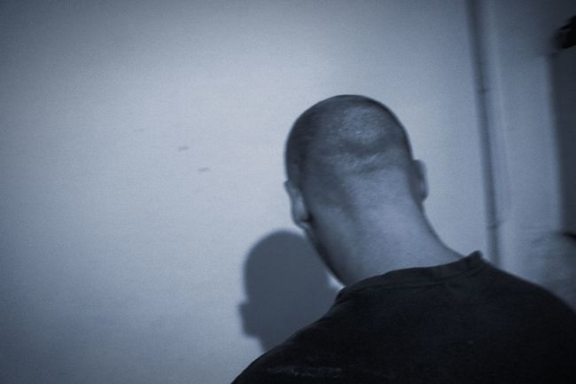 One Person Indoors  Men Real People One Man Only Day Low Section Close-up Adult People Adults Only Shaved Head Back Turned Blackandwhite Black & White B&w Home