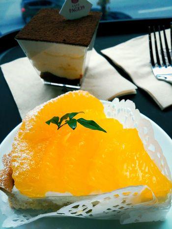 카페 오렌지타르트 음식 필터 티라미수 카페 Page39 EyeEm Selects Fruit Yellow Close-up Orange - Fruit