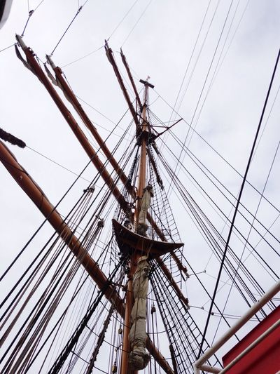 Low Angle View Of Ship Mast