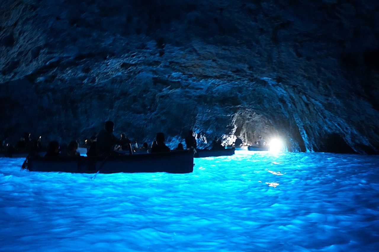 SCENIC VIEW OF SEA AND CAVE