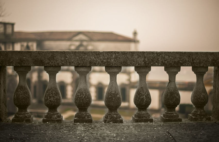 Railing Architecture Balustrade Building Building Exterior Built Structure City Clear Sky Close-up Connection Day Focus On Foreground Metal Nature No People Outdoors Parapet Wall Railing Selective Focus Sky Stumbling Block,