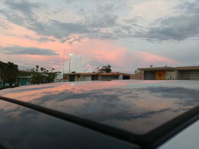 Sunset reflection Sky Sunset Puerto Rico Vega Baja Reflection Sunroof The Week On EyeEm