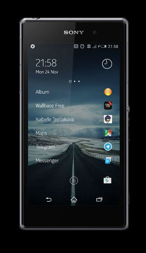 Mobile Screenshot of my Xperia Z1 with Z Launcher