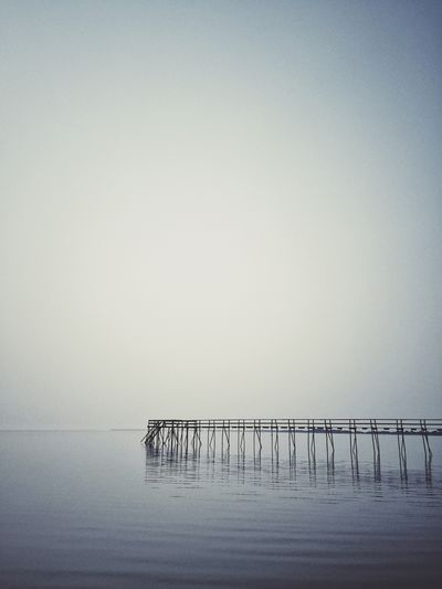 The pier at Matlock. Lake Winnipeg Matlock Pier Lake View Monochrome Calm Tranquility Howiseethings Water Reflections