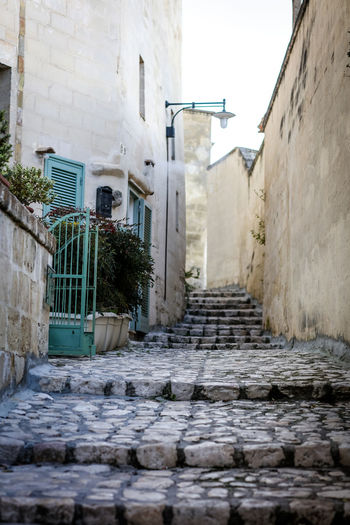 winding passages Matera Matera Italy Matera2019 Matera - Capitale Della Cultura Matera View Culture Travel Travel Destinations Steps Passageway Alley Cobblestone Old Old Town Architecture Staircase No People Day City Footpath Outdoors Narrow