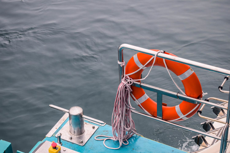 Buoy Cleat Day High Angle View Life Belt Mode Of Transportation Nature Nautical Vessel No People Outdoors Protection Rope Safety Sea Security Transportation Water