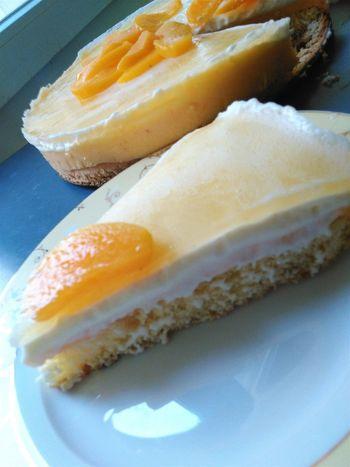 Homemade Baking Dessert Food Entremet Peach Vanilla Peche Vanille Bavarois Cake Gateau ShareTheMeal