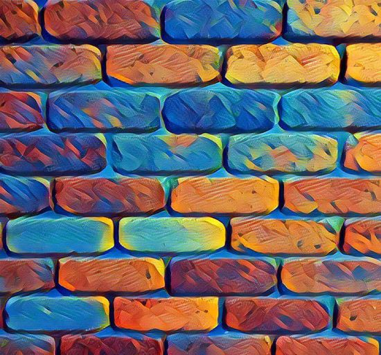 Brick Wall Backgrounds Backgrounds Full Frame Multi Colored Textured  Close-up Colorful Creativity Man Made Object No People Geometric Shape Bricks