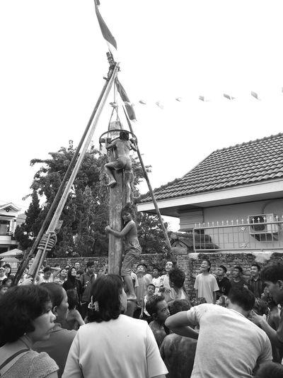 Human Interest Blackandwhite Panjat Pinang Independence Day EyeEm Indonesia EyeEm Gallery EyeEm Best Shots EyeEmIndonesiaKu Travelensa
