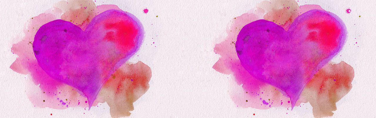 Watercolor Heart Love Illustration Background Banner Panorama Panoramic Horizontal Copyspace Valentine Valentine's Day  Paper Paint Pattern Wrapping Watercolor Background Red Pink White Shape Holiday Paintbrush Wallpaper Abstract Aquarelle ArtWork Art Dye Drawing Picture Huế Color Colorful Design Brush Backdrop Stain Intensity Hand Drawn Drawn Sign Symbol Concept Romance Textured  Creativity Dirty Decoration Square