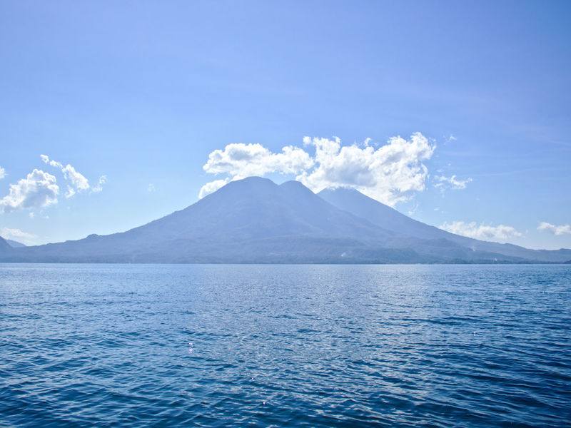 Volcanoes Atitlan Lake Beauty Beauty In Nature Blue Cloud - Sky Cold Temperature Day Glacier Idyllic Landscape Mountain Mountain Range Nature No People Outdoors San Pedro Santiago Scenics Sky Tranquil Scene Tranquility Travel Photography Volcano Volcanoes Water