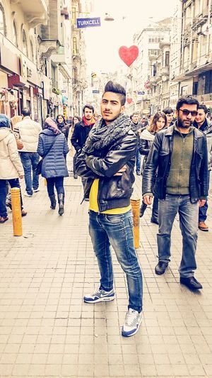Relaxing Enjoying Life Istanbul Turkey Taksim