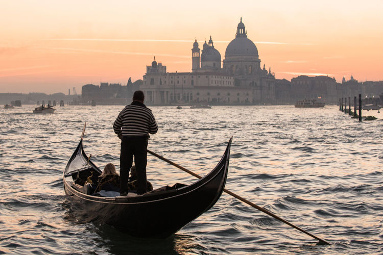 Architecture Church Cityscape Gondola - Traditional Boat Gondolier Italy Landscape Monument Nautical Vessel People Romance Scenics Sunset Tourism Travel Travel Destinations Travel Photography Venezia Venice Your Ticket To Europe An Eye For Travel Mobility In Mega Cities Colour Your Horizn