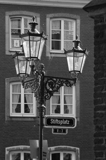 Düsseldorf, Germany, Altstadt Deutschland Düsseldorf Germany Lamp Lantern Laterne No People NRW Stiftsplatz SW Black & White Blackandwhite Blackandwhite Photography Black&white Black And White Photography
