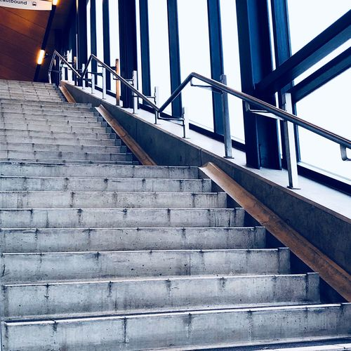 Low angle view of empty stairs