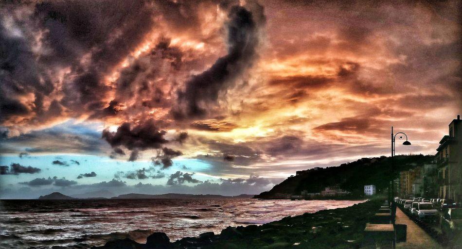 Eye in the sky Pozzuoli Pozzuoli, Sunset, Sole Imagination Love Weather Dramatic Sky Sunset Mauryhappy