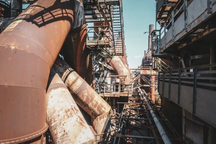 Low angle view of industry