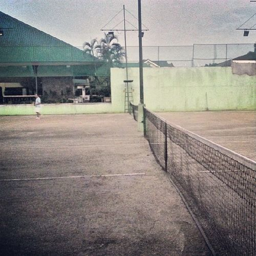 No rest for the sick and weak. Better sweat off the flu before going to work. Tennis