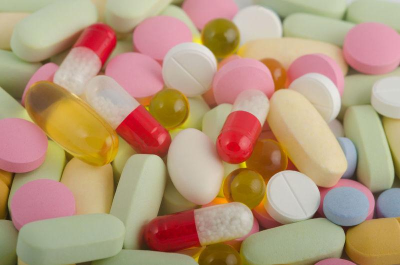 Full frame shot of pills
