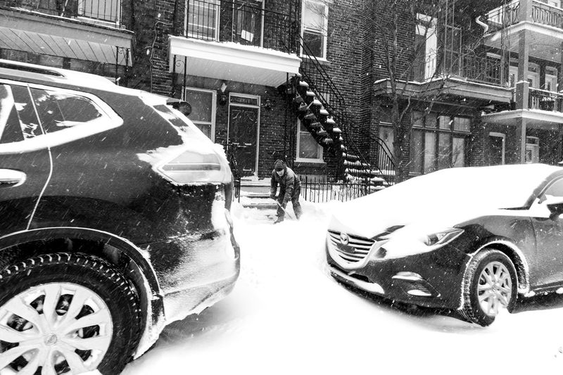 After the storm comes a calm Fuji Black And White Light And Shadow Motivation Blackandwhite Photography Wide Angle Cityscape Quebec Streets Photojournalism Streetphoto_bw EyeEm Best Shots - Black + White FUJIFILM X-T2 Blackandwhite Fujifilm_xseries Fujifilm Streetphotographers Streetphotography_bw Snow Winter Mode Of Transportation Transportation Motor Vehicle Car Land Vehicle City Day Cold Temperature Outdoors Covering
