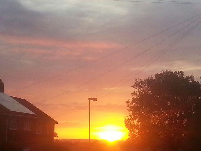 Clouds Colourful Sky Red Orange Pinks No People Tree Outdoors Sky Sun Sunrise