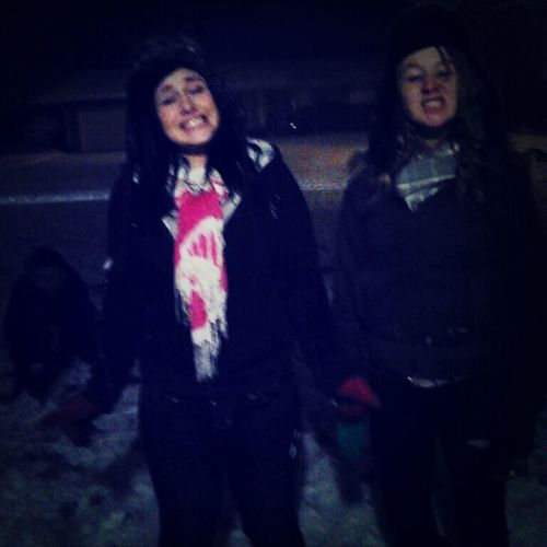 Playing in the snow with my bestfriend. :)