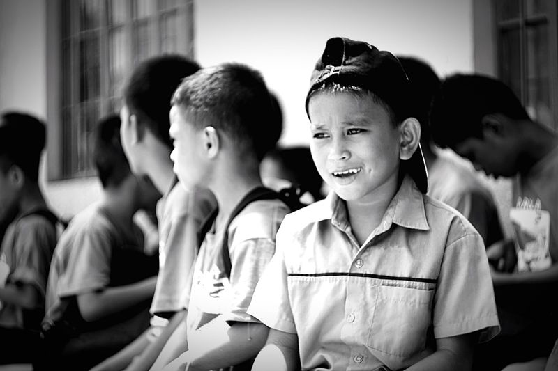 Boys Expression Boy Kid Kids Lovelykids Kidspotrait Children Bacoor Cavite Philippines Im In Love Blackandwhite Monochrome Amateurgraph Live For The Story The Street Photographer - 2017 EyeEm Awards The Photojournalist - 2017 EyeEm Awards The Portraitist - 2017 EyeEm Awards