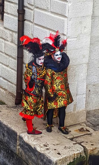 Colors of Carnival Colors Carnevale Carneval Carnevale Di Venezia Venice Venice, Italy Venice Carnival Venice Canals Venice Masks Masks Masks Arts And Crafts Masks Venezianas Masks Italy Masks Persons Masks Decor Day Outdoors Red Real People Togetherness