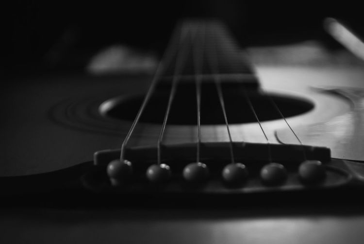 Cropped Image Of Guitar
