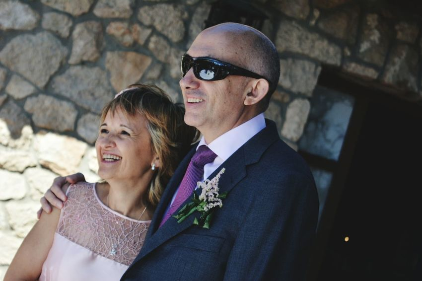 boda Mar y Josan Boda Celebracion Togetherness Mature Adult Love Eyeglasses  Mature Men Adult