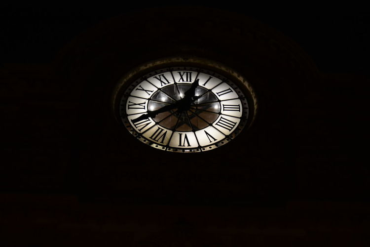 """"""" TheClock Face"""" The Fine Art PhotographyMy Gallery Paris Orleans Nightphotography Night View Eyemphotography Eye4photography  Black And White Photography Urban Night Vision"""