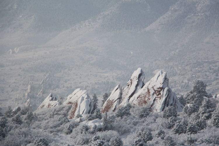 Shades Of Winter Beauty In Nature Cold Temperature Day Garden Of The Gods Landscape Mountain Mountain Range Nature No People Outdoors Sky