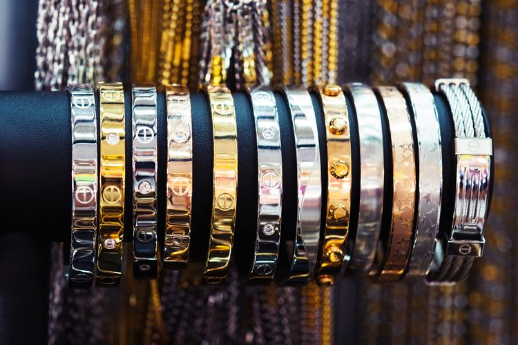 Close-up of bangles