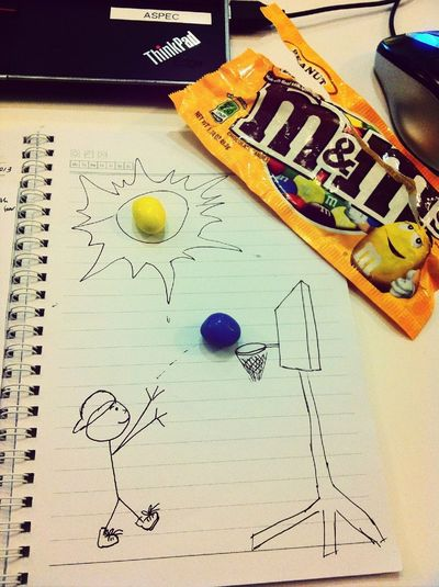 Playing with my snack :D