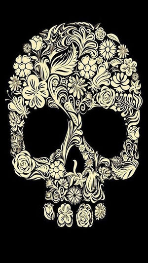 Scull Flowers FlowersBeauty Amazing_captures Hello World Check This Out Emo Gothic Beauty