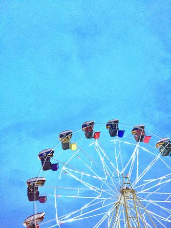 You loved ferris wheels more than roller coasters because life shouldn't be lived at full speed, but in anticipation and appreciation. Blue Amusement Park Arts Culture And Entertainment Nature First Eyeem Photo
