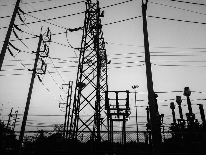 EyeEmNewHere Electricity  Power Line  Cable Power Supply Electricity Pylon Fuel And Power Generation Sky Power Station Day Canon