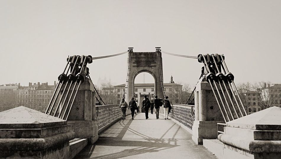 Monochrome Bridge Blackandwhite Friends GoodTimes IPhoneography Taking Photos Eyem Best Shots Only Lyon Urbanphotography