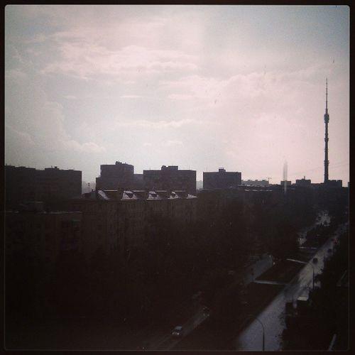 Russia Moscow Rain Ostankino