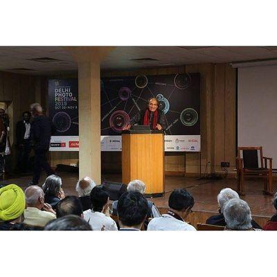 "Magnum Photographer Raghu Rai speaks at the launch of ""Creative Image Magazine"" RaghuRai Delhiphotofestival Magnumphotos Dpf"