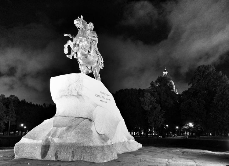 Peter the Great in Saint Petersburg - Historical Sights Taking Photos View Tadaa Community Black & White
