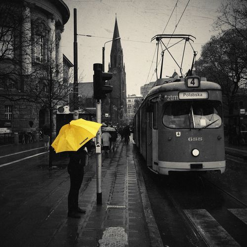 Yellow umbrella IPSCity Street AMPt - Street