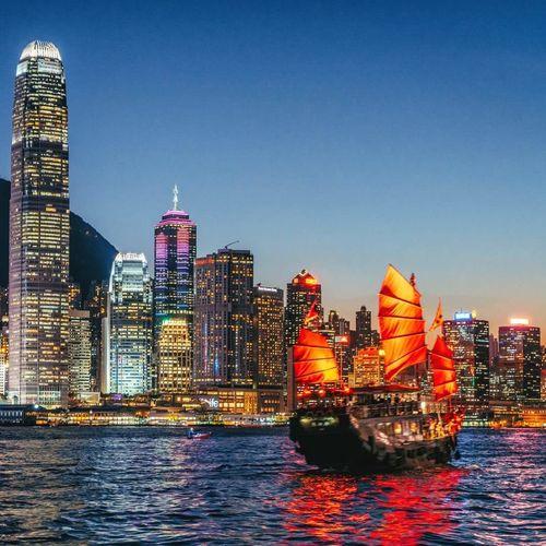 Sunset in Hong Kong. Travel Destinations