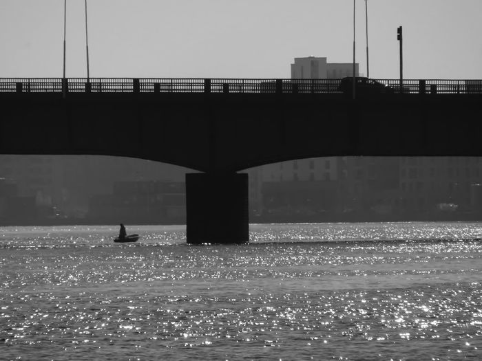 Blackandwhite Water City Bridge - Man Made Structure Silhouette River Sky Architecture Built Structure Boat Nautical Vessel Horizon Over Water My Best Photo The Great Outdoors - 2019 EyeEm Awards The Traveler - 2019 EyeEm Awards The Architect - 2019 EyeEm Awards
