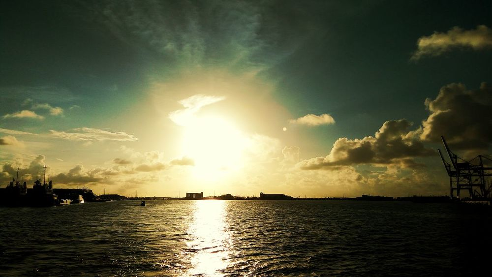 First Eyeem Photo Sunset Sky And Clouds Clouds And Sky Water CapeCanaveral Fishing