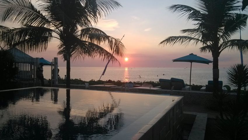 Smartphone Xiaomi Mi2, Sunset, Palm TreeJapara Indonesia Sunset Reflection Water Sea Vacations Travel Tropical Climate Nature Silhouette Postcard Tranquility Sky No People Beach Outdoors Night Xiaomi Mi2