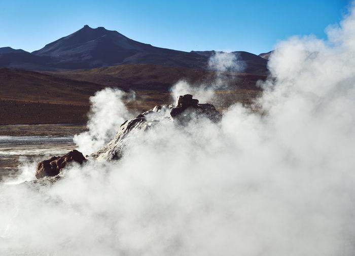 The Volcanic Landscape of San Pedro de Atacama San Pedro De Atacama Atacama Desert Atacama / Chile 🇨🇱 Chile Desert Volcanic Landscape Volcanoes