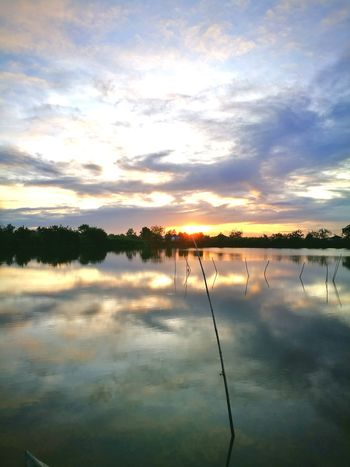 Sunset Reflection Water Lake Sunset Nature Outdoors Cloud - Sky Scenics Beauty In Nature The Great Outdoors - 2017 EyeEm Awards